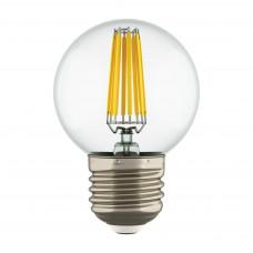 933824 Лампа LED FILAMENT 220V G50 E27 6W=65W 400-430LM 360G CL 4200K 30000H (в комплекте)