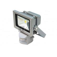 Светодиодный прожектор с датчиком движения 10W IP65 220V White