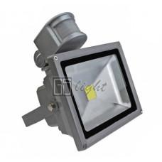 Светодиодный прожектор с датчиком движения 20W IP65 220V White